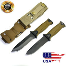 Hot! Fixed Blade Knife Steel Fiberglass Handle ABS Nylon Hunting Knife Camping