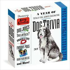 2019 a Year of Dog Trivia Colour Page-A-Day Calendar - 9781523503759
