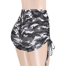 Women Yoga Shorts Fitness Gym Stretchy High Waisted Ruched Butt Lifting Workout