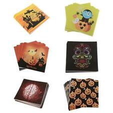 20pcs Happy Halloween Trick or Treat Paper Napkins Disposable Party Table Napkin