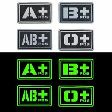 Badge Tactics / B / O / Ab + Blood Group Moral Military Badges Tactical Rubber F