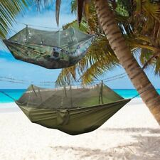 Jungle Hammock Mosquito Net Camping Travel Parachute Hanging Bed Tent QC
