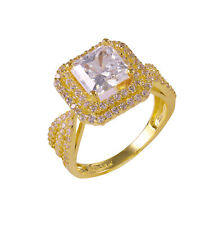 2.0CT Solitaire Engagement Princess Cut Ring Solid Real 14k Gold Gift for Women