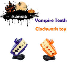 Funny Halloween Clockwork Gift Wind Up Vampire Tooth Bounce Toy Educational Toys