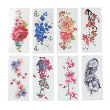 Women's Temporary Tattoos Body Art Fake Tattoo Stickers 3D Butterfly Flower
