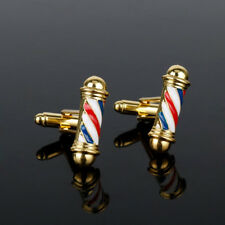 Barber Pole Cufflinks Barber Shop Design Tie Clip Vintage Jewelry And Accessory