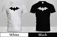 Batman Fly Hush Bat Logo DC Comics Licensed T-Shirt Mens Black&White Shirt 2