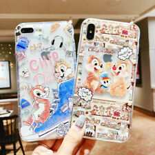 For iPhone X XS Max XR 6 7 8 Plus Silicone Disney Chip 'n' Dale Phone Case Cover