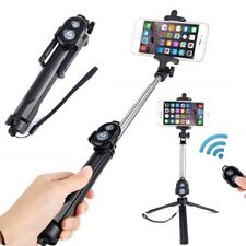 Selfie Stick Tripod Bluetooth Remote Control Button Wireless Android IOS Monopod