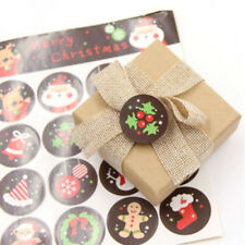 Lot 5/10 Sheets DIY Christmas Envelope Seal Sticker Xmas Gift Label Badge Decor