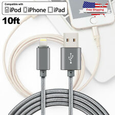 MFi Certified Lightning Cable 10 FT USB Charger Apple iPhone 8 7 7 Plus 6s 6