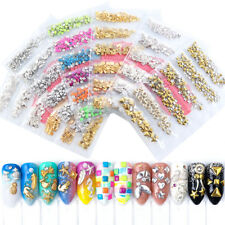 Banana Star  Feather  Nail Art Alloy Metal Copper Round Triangle  Rivet Studs