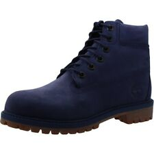 Timberland 6 Inch Premium Dark Blue Nubuck Youth Ankle Boots