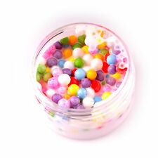 Ice Cream Beads Slime - 2 oz White Based Slime With mixed colors Foam Beads