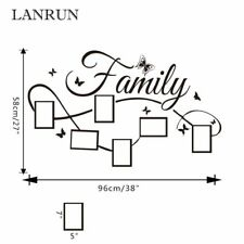 DIY Family Photo Frame Living Room Bedroom Wall Decals Poster Home Decor  NEW