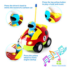 RC Car With Sound Lights Music Remote Control Toy Play Cars For Kids Baby Boys