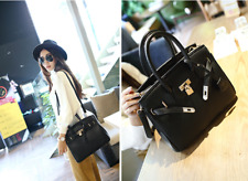 HOT Lady Celebrity PU Leather Tote Handbag Lock Shoulder Designer Satchel bag JB