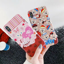 For iPhone X XS Max XR 6 7 8 Plus Lovely Duffy Bear Silicone Phone Case Cover