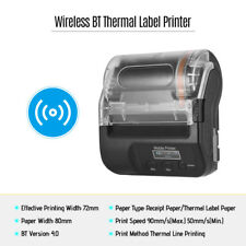 Portable 80mm Wireless BT4.0 Thermal Label Printer Receipt Printing Machine B8O5