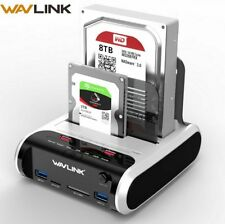 "Wavlink SATA HDD 2.5""3.5"" External Hard Drive USB 3.0 Docking Station 5Gbps"