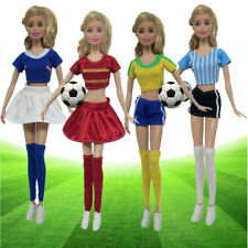 Barbie Dress Up Football Cheerleader Clothes Doll Accessories Handmade Clothing