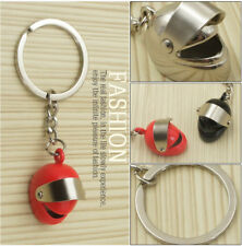 4PC Simulation Helmet Metal Key chain Motorcycle Car key ring Chain link Pendant