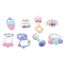 Baby Rattles Toy 6/8pcs Teether Music Hand Shaking Bed Bell Baby Rattles Toy QP