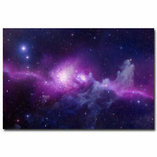 H-2070 Outer Space Galaxy Stars Nebula Landscape Wall Silk Poster