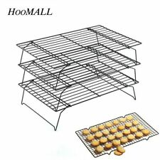 Hoomall 3 Layer Stainless Steel Nonstick Cooling Rack Baking Cake Cookies Bread1