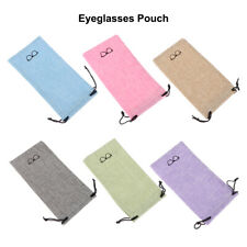 Fabric Sunglasses Bag Lanyard Cloth Bags Optical Glasses Case Eyeglasses Pouch