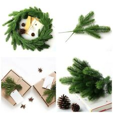 50PC Artificial Pine Tree Branches Christmas Decor Plastic Pine Leaves DIY Decor