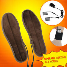 Battery Electric Fur Insoles Foot Powered Heating Winter Keep Warm Shoes Pad