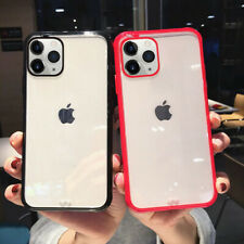 For iPhone 11 Pro Max XS XR X 8 7 6 Shockproof Clear Bumper Silicone Cover Case