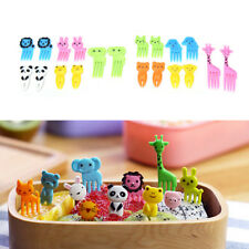 Mini Cartoon Food  Pick Animal Farm Fruit Fork Toothpick Bento Lunches Decor New