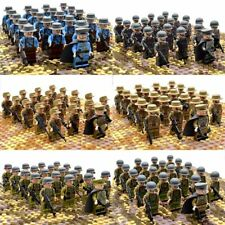 21Pcs Set WW2 Military Soldiers German US Britain Italy Japan Army Weapon Bricks