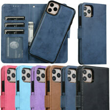 For iPhone 11 Pro Max XS XR 8 7 6 Removable Leather Wallet Card Stand Case Cover