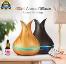 400ml Ultrasonic Air Humidifier Aroma Essential Oil Diffuser 7Color Changing LED