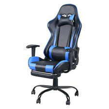 High Back Swivel Chair Racing Gaming Chair Office Chair with Footrest Tier
