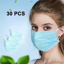 Medical Disposable Blue 3-Layers Non-Woven Mouth Face Mask Anti-Dust Anti