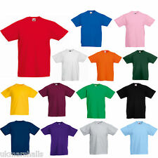 12 FRUIT OF THE LOOM KIDS T SHIRTS  12 COLOURS ALL AGES