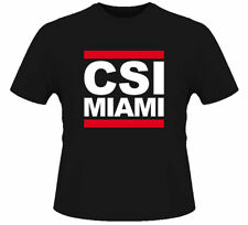 CSI Miami Run DMC Cool TV Show Fun Cool Black T Shirt