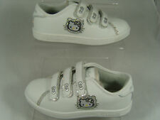 HELLO KITTY KIDS TRAINERS (ABBIE) WHITE/SILVER