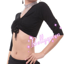 Belly Dance Choli Top Elbow-Length Sleeve Vest 9Colors