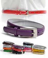 Solid Color Leather Adjustable Skinny Belt (JBT7055)