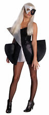 Adult Sexy Lady Gaga Black Silver Sequine Dress Costume