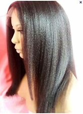 Full Lace Wig #2 Dark Brown Kinky Straight All Length
