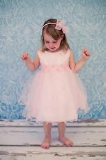 Pink Baby Infant 2 layered flower girl dress clothing