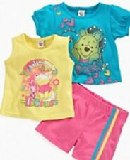 new NWT DISNEY girls 2 Winnie the Pooh 100% Cotton s/s Shirt Tees, w/ Shorts