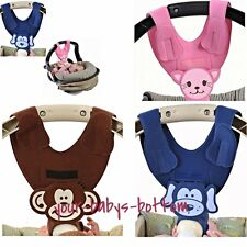 2 Bebe Hands Free Baby Bottle Holder Sling BROWN MONKEY - Unisex