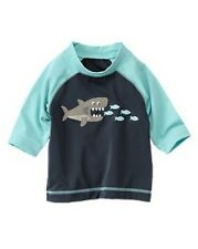 NWT Gymboree Shark Bite Fish Lunch Time Rash Guard Swim Shirt Top Rashguard NEW